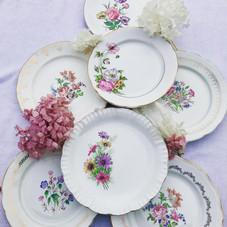 Assiettes Porcelaine fleurie