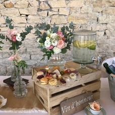 TABLE VIN D'HONNEUR VINTAGE ROMANTIQUE 2
