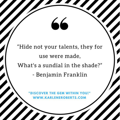 Hide Not Your Talents
