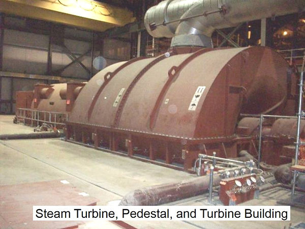 Vibration Analysis and Testing of 120 MegaWatt Steam Turbine, Pedestal and Building Structure
