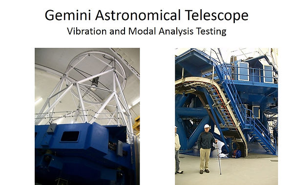 gemeni astronomical telescope vibration and modal analysis testing