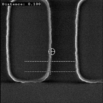 Scanning Electron Microscope (SEM) Image, showing image disturbance