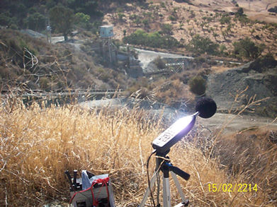 Field monitoring of acoustic sound levels during blasting at a rock quarry