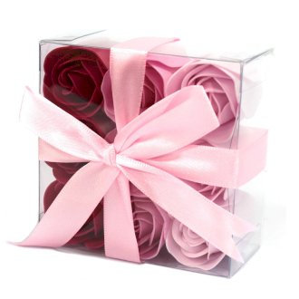 Luxury Handmade Soap Flowers, Heart Box 9