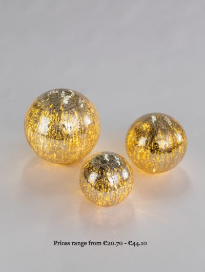 Crackle Glaze Gold Light Balls