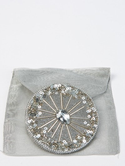 Silver Sequined/Jewel Mirror
