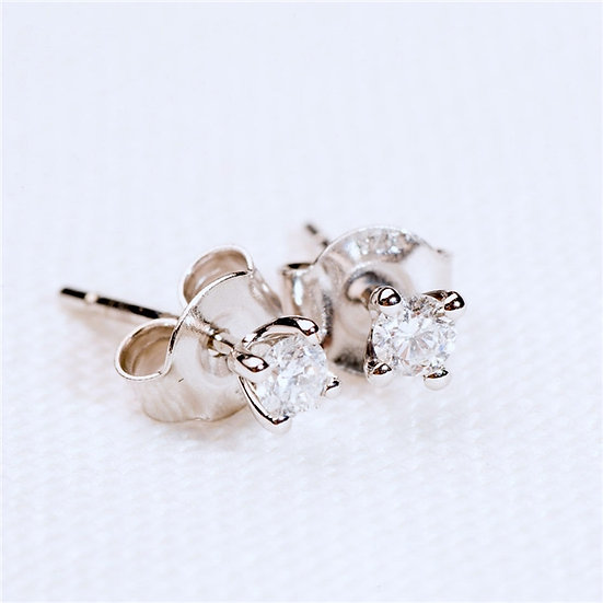 Handmade Solitaire Diamond Earrings