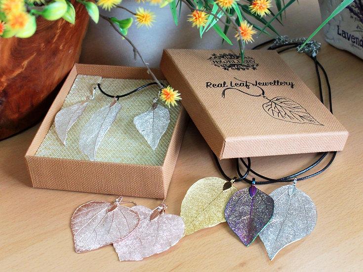 Real Leaf Jewellery Sets
