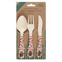 Bamboo Cutlery Set - Penelope Panda