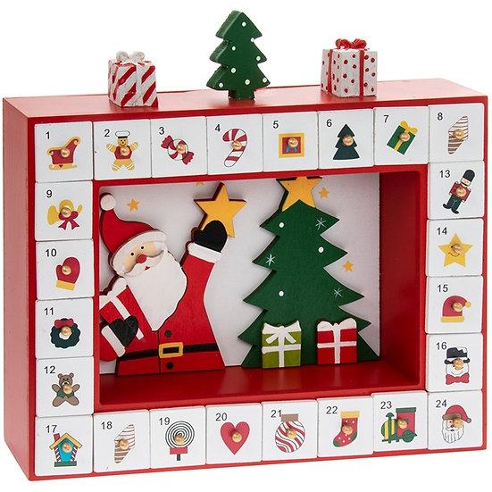 Santa With Tree Box Advent Calendar