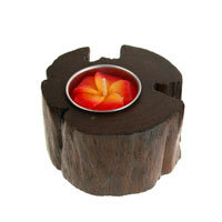 Recycled Teak Root Candle Holders