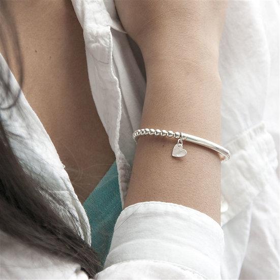Handmade Personalised Sterling Silver Bracelet