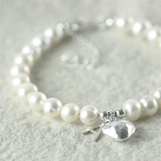 Handmade Freshwater Pearl Initial Bracelet