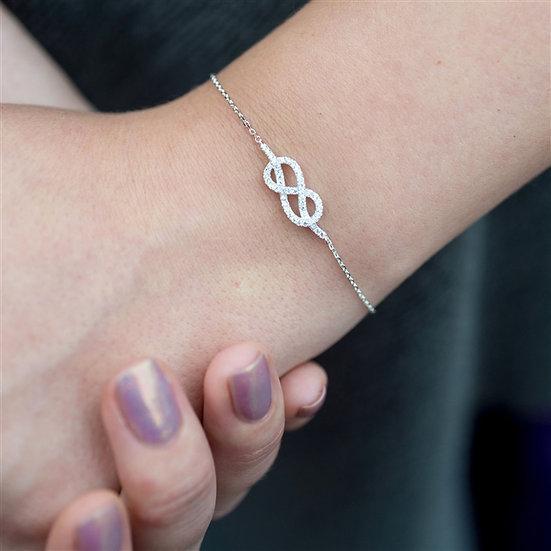 Handmade Infinity Cubic Zirconia Bracelet