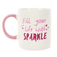 Fill Your Life with Sparkle Ceramic Mug