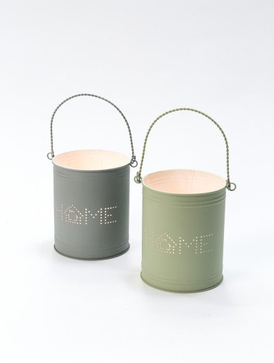 Recycled Metal Tealight Holders Home Set of 2
