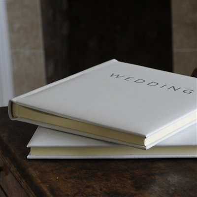 Handmade Luxurious Ivory Leather Wedding Album