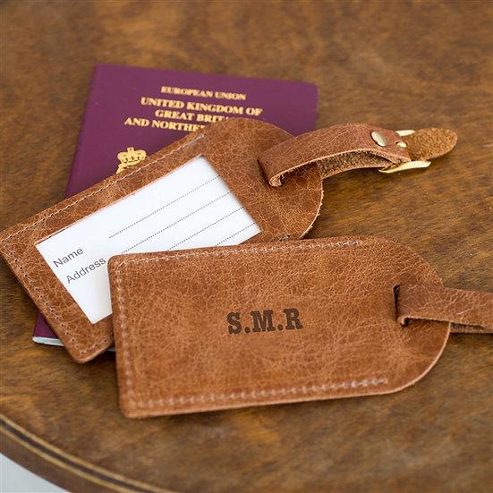 Handmade Personalised Genuine Leather Luggage Tags