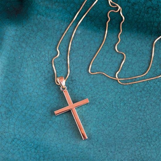 Handmade 9ct Gold Cross Necklace