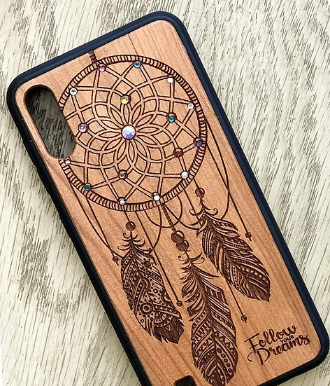 Real Wood Engraved Phone Cover - Dream Catcher