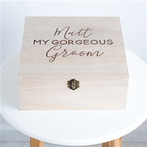 Personalised 'My Gorgeous Groom' Gift box