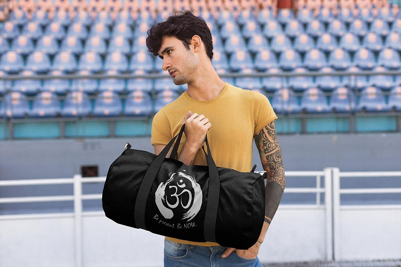 Vegan Yoga/Gym Bag - Be Present Be Now