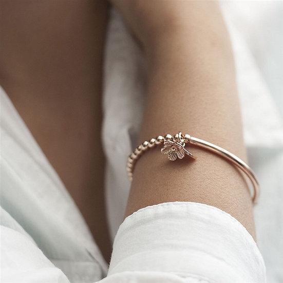 Handmade Rose Gold Stretch Bracelet