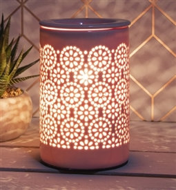 Ceramic Pottery Aroma Lamp - Blush Pink
