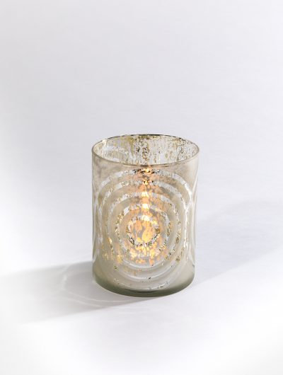 Mercury Glass Circles Candle Holders