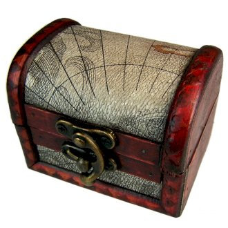Vintage Style Boxes - Med Colonial Box, Atlas Design