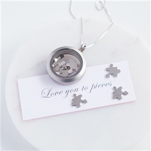 Handmade Silver 'Love You To Pieces' Necklace