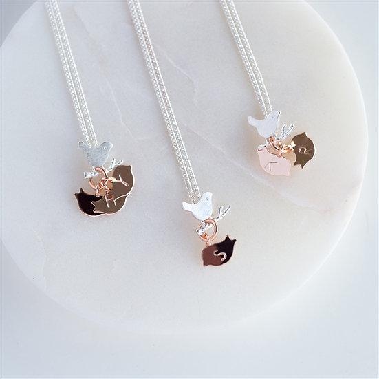 Handmade Family Bird Necklace