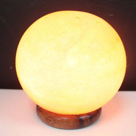 Salt Lamp Ball - Big Wooden Base