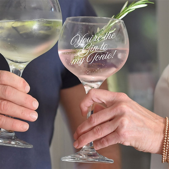 Personalised 'You're the Gin to my Tonic' Glass