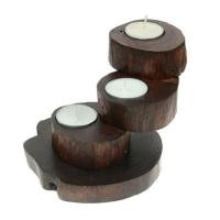 Recycled Teak Root Candle Holders 3