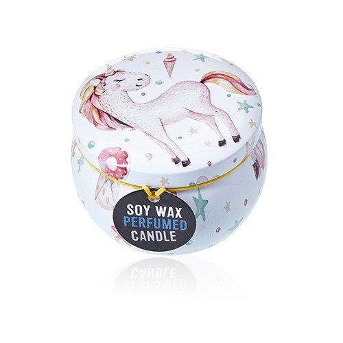 Soy Wax Art Tin Candle - Unicorns