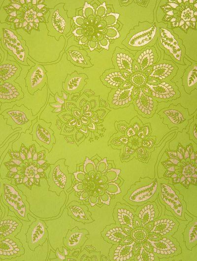 Lime Handmade Dahlia individual Gift Wrap