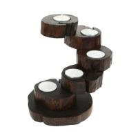 Recycled Teak Root Candle Holders 5