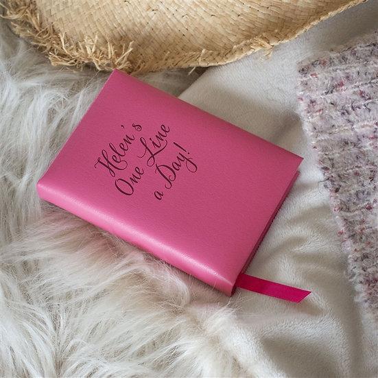 Personalised Handmade Genuine Leather 5 Year Diary