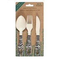 Bamboo Cutlery Set - Ziggy Zebra