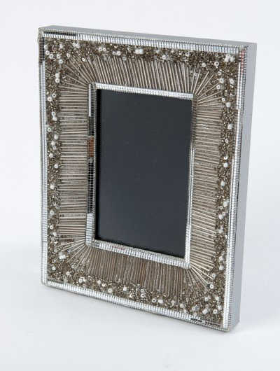 Silver Beaded Picture Frame