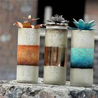 Distressed Recycled Glass Jar Candles