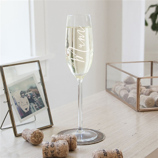 Personalised 'Mum' Champagne Glass