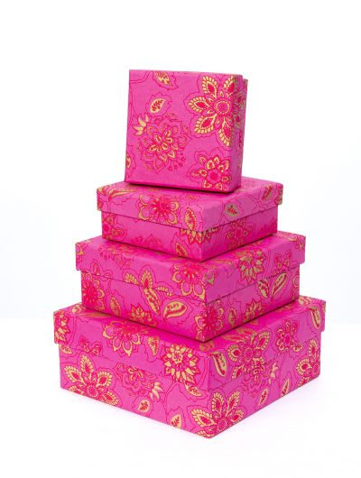 Hot Pink Dahlia Gift Box Nest