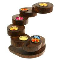 Recycled Teak Root Candle Holders 8