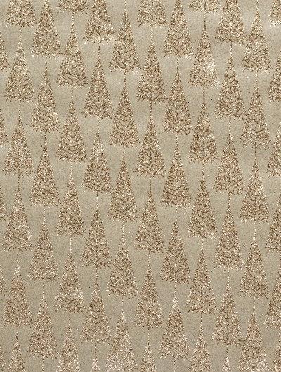 Handmade Gold Glitter Tree individual Gift Wrap