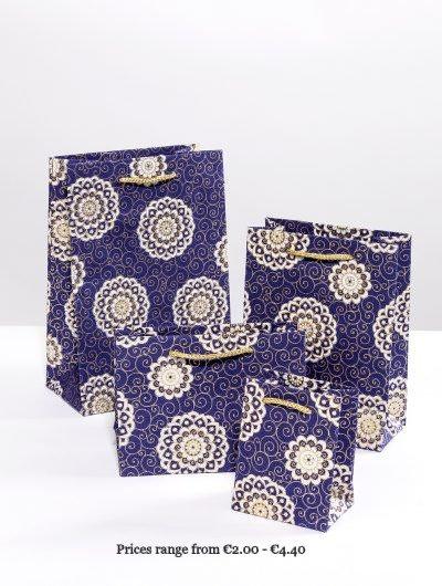 Navy Handmade Rangoli Giftbags