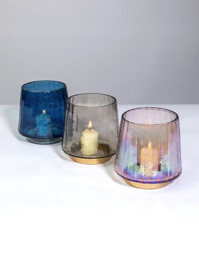 Recycled Pebbled Finish Tealight Holders - Med