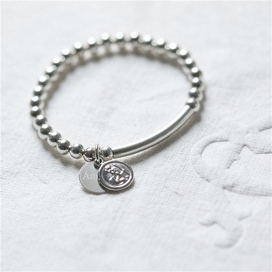Sterling Silver St Christopher Baby Bracelet