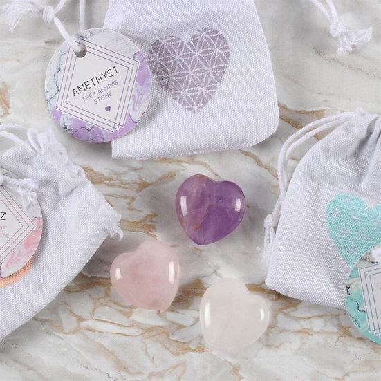 A Crystal Heart Stone